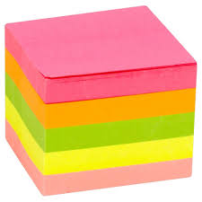 Sticky Note Cube Neon 76x76mm